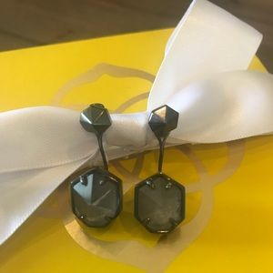 Kendra Scott Stud Earrings - Graphite Stone